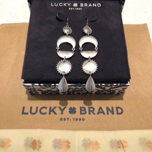 Lucky Brand Silver Drop Earrings